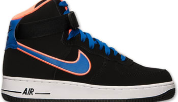 official photos fa240 823ed Nike Air Force 1 High Black Game Royal-Bright Mango