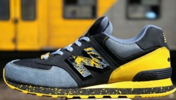 New Balance 574 Black/Grey-Gold