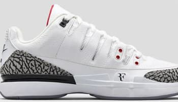 Nike Zoom Vapor AJ3 White/Fire Red-Cement Grey