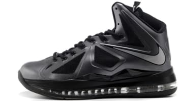 Nike LeBron X Black/Metallic Silver-Anthracite