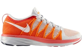 Nike Flyknit Lunar2 Pure Platinum/White-Atomic Orange-Bright Crimson