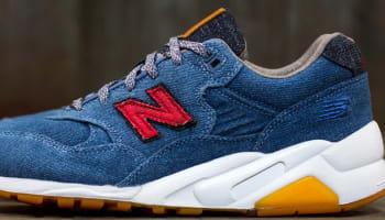 New Balance 580 Denim/Brown-Red