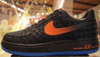 Nike Air Force 1 Low Black/Team Orange-Photo Blue