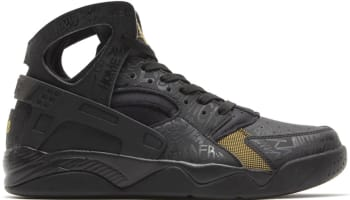 Nike Air Flight Huarache Premium Black/Black-Metallic Gold
