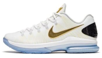 Nike KD 5 Elite+ White/Metallic Gold