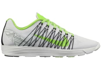 Nike Lunaracer+ 3 White/Electric Green-Black-Metallic Silver