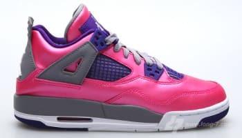 Girls Air Jordan 4 Retro GS Pink Foil