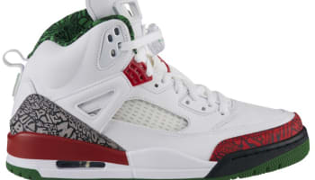 Jordan Spiz'ike White/Varsity Red-Cement Grey-Classic Green