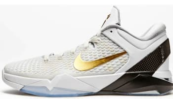 Nike Zoom Kobe 7 System Elite White/Metallic Gold