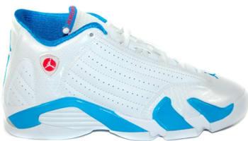 Girls Air Jordan 14 Retro GS White/Neptune Blue