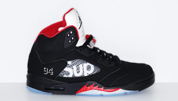 Supreme x Air Jordan 5 Retro Black/Fire Red