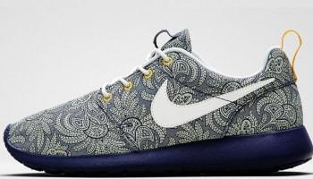 Nike Roshe Run Liberty Women's Blue Recall/White-Atomic Mango