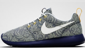 Nike Roshe Run Liberty Women's Blue Recall/White-Atomic Mango