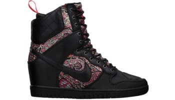Nike Dunk Sky Hi Sneakerboot Liberty QS Women's Black/Black-Solar Red