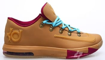 Nike KD VI EXT Gum QS Gum Light Brown/Gum Light Brown-Raspberry Red