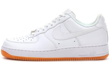Nike Air Force 1 Low White/White-Gum Medium Brown