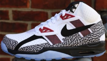 Nike Air Trainer SC High Premium White/Black-Cement Grey-Total Crimson