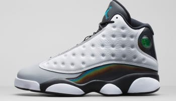 Air Jordan 13 Retro White/Tropical Teal-Black-Wolf Grey