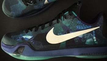 Nike Kobe X Emerald Glow/Reflect Silver-Court Purple