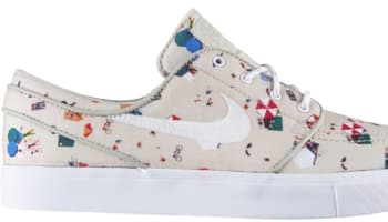 Nike Zoom Stefan Janoski Canvas Premium SB Multi-Color/Sandtrap-White
