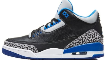 Air Jordan 3 Retro Black/Sport Blue-Wolf Grey