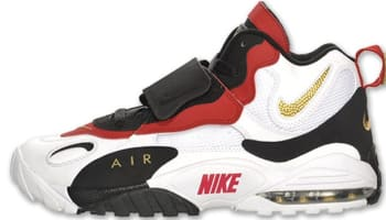 Nike Air Max Speed Turf White/Metallic Gold-Gym Red-Black