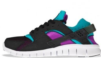 Nike Huarache Free Run 2012 Black/Neo Turquoise-Magenta