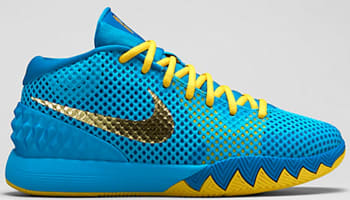 Nike Kyrie 1 GS Current Blue/Imperial Blue-Tour Yellow-Metallic Gold Coin