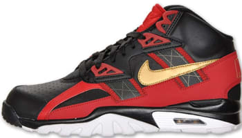 Nike Air Trainer SC High Black/Metallic Gold-Gym Red-White