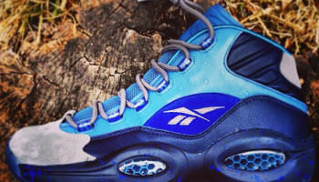 Reebok Question Mid True Grey/Navy-Royal Blue