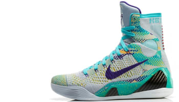 Nike Kobe 9 Elite Wolf Grey/Sport Turquoise-Court Purple