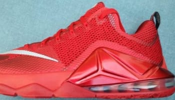Nike LeBron 12 Low University Red/Reflect Silver-Gym Red-Black