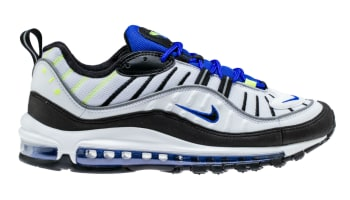 Nike Air Max 98 White/Black-Racer Blue-Volt