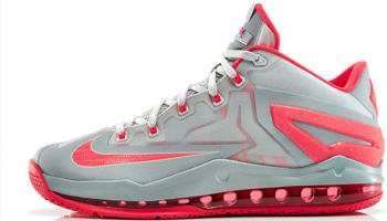 Nike LeBron 11 Low Light Base Grey/Light Crimson-Base Grey
