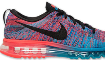 best website b463f dfcbc Nike Flyknit Max Blue Lagoon Black-Bright Crimson