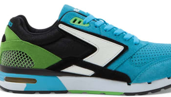 Brooks Fusion Cyan Blue/Black-Green Flash