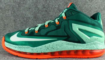 Nike LeBron 11 Low Mystic Green/White-Medium Mint-Hyper Cobalt