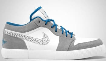 Jordan Retro V.1 White/Military Blue-Stealth