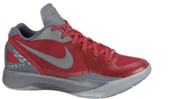 Nike Zoom Hyperdunk 2011 Low PE Sport Red/Metallic Silver-Cool Grey