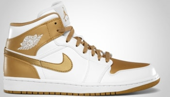 Air Jordan 1 Phat Mid White/Metallic Gold