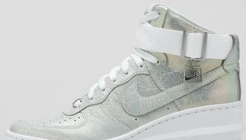Nike Lunar Force 1 Sky Hi Women's White/Metallic Silver-White