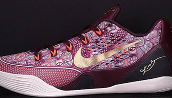 Nike Kobe 9 EM Villain Red/Metallic Gold-Bright Crimson