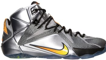 Nike LeBron 12 Wolf Grey/Bright Citrus-Black