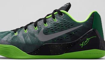 Nike Kobe IX Premium Gorge Green/Metallic Silver-Electric Green