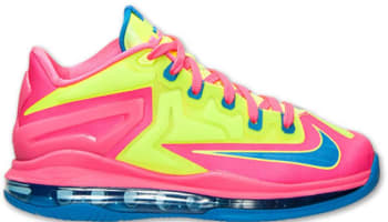 4f725d1eb098 Nike LeBron 11 Low GS Volt Photo Blue-Hyper Pink