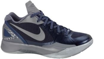 e0a9da920a587 Nike Zoom Hyperdunk 2011 Low PE Midnight Navy Metallic Silver-Cool Grey