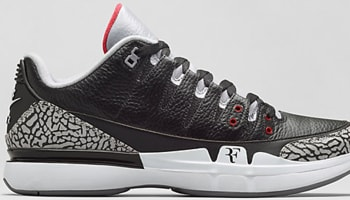 Nike Zoom Vapor AJ3 Black/Cement Grey-White