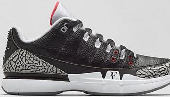 Nike Zoom Vapor AJ3 Black/Cement Grey-White