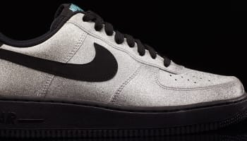 Nike Air Force 1 Low Metallic Silver/Black-Aqua