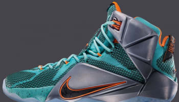 Nike LeBron 12 Hyper Turquoise/Black-Metallic Cool Grey-Hyper Crimson